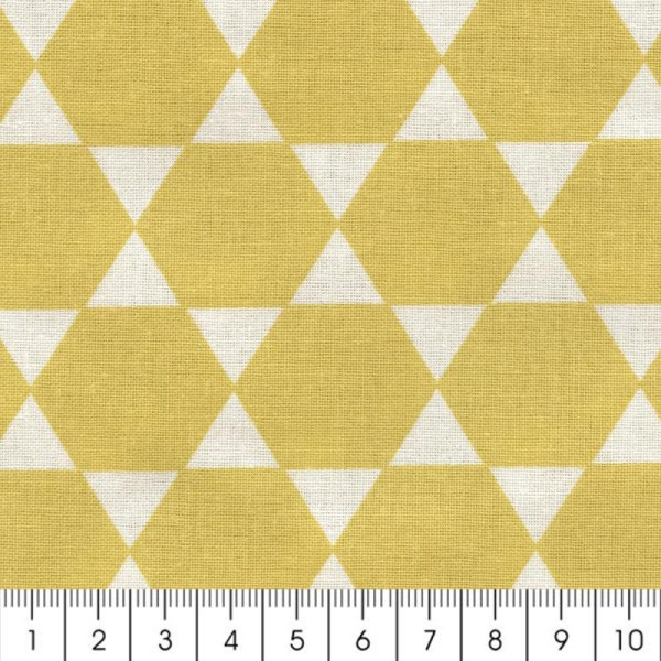 Tissu Diamant - Jaune - Par 10 cm (sur mesure) - Photo n°2
