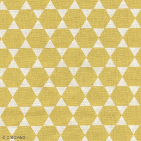 Tissu Diamant - Jaune - Par 10 cm (sur mesure) - Photo n°1
