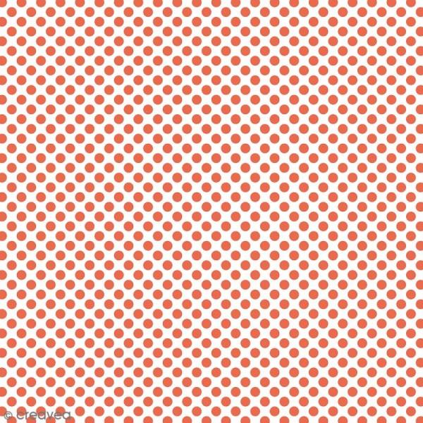 Tissu à Pois - Orange fluo - Par 10 cm (sur mesure) - Photo n°1