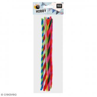 Fil chenille Multicolore rayé - Multicolore - 50 cm - 10 pcs