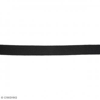 Sangle gros grain polyester - Noir - 2,5 cm x 2 m