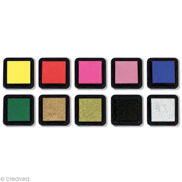 Kit 10 encreurs Stampo'colors classique - Photo n°2
