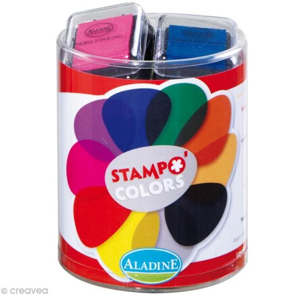 Kit 10 encreurs Stampo'colors classique - Photo n°1