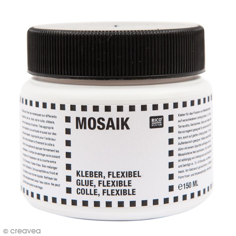 Colle flexible pour mosa que 150 ml outil mosa que creavea - Colle pour mosaique piscine ...