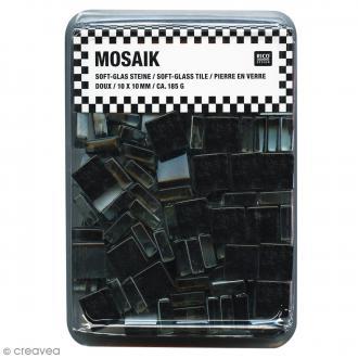 Mosaïque en verre 10 x 10 mm - 185 gr de tesselles Noir
