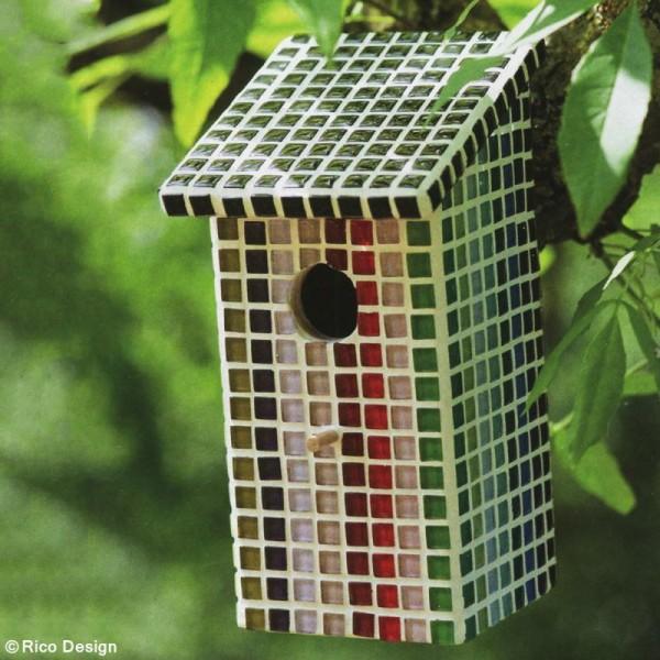 Mosaïque en verre pailleté 10 x 10 mm - 185 gr de tesselles - 11 coloris - Photo n°3