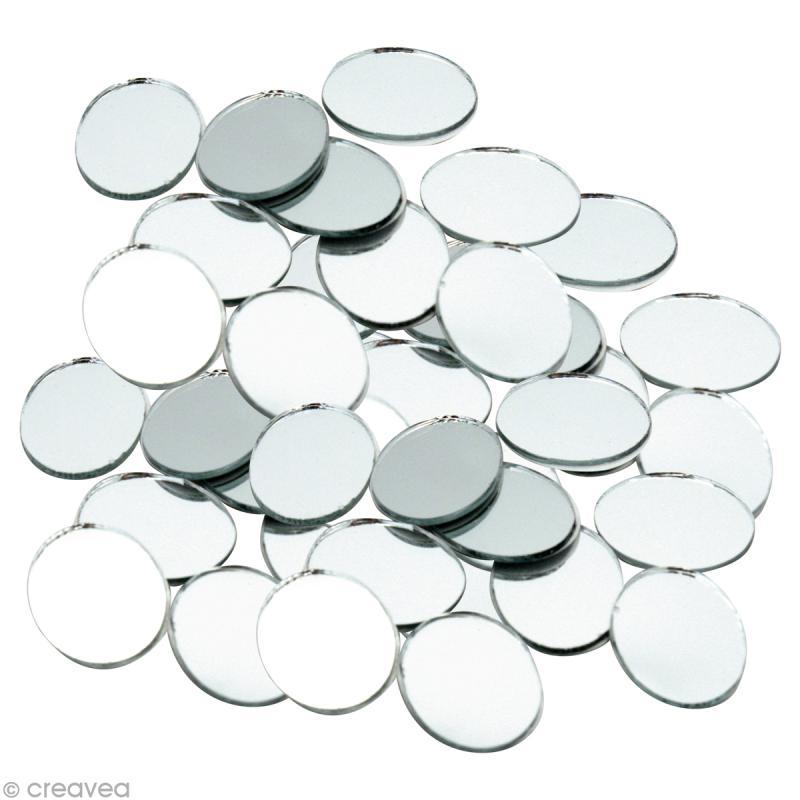 Mosa que miroir rond 20 mm 60 tesselles en verre for Petits miroirs ronds