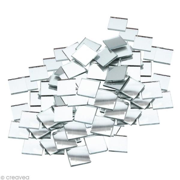 Mosaïque miroir carré 5 mm autocollante - 408 tesselles en verre - Photo n°1