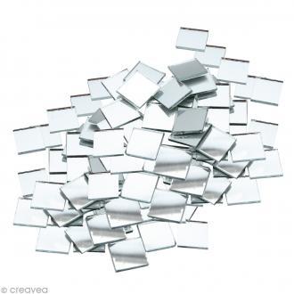 Mosaïque miroir carré 5 mm autocollante - 408 tesselles en verre