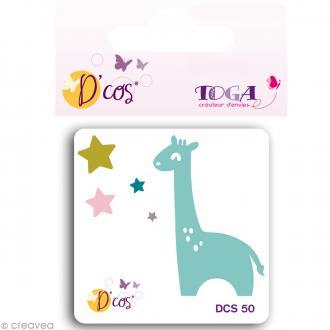 Matrice de découpe dies - D'co Color factory Girafe - 5 x 5 cm
