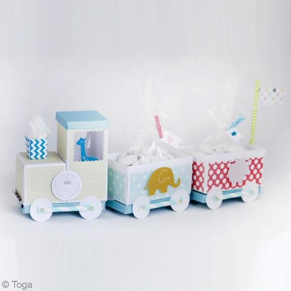 Die cuts à assembler - Color factory - Nounours Bleu et taupe - 20 formes en papier - Photo n°4