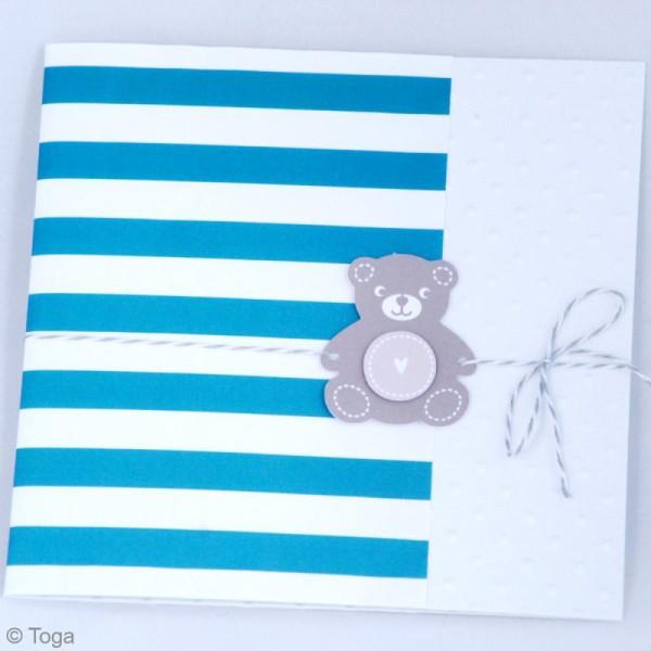 Die cuts à assembler - Color factory - Nounours Bleu et taupe - 20 formes en papier - Photo n°6