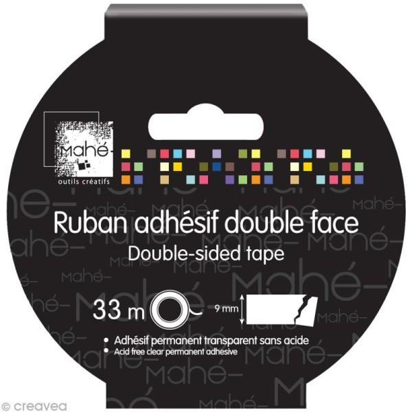 Ruban adhésif double face - 9 mm x 33 m - Photo n°1