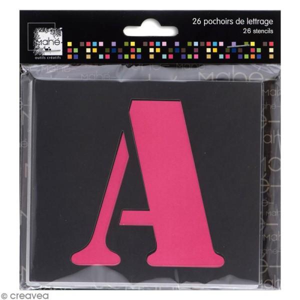 Pochoir lettre majuscule - Alphabet 5 cm - 26 pcs - Photo n°1