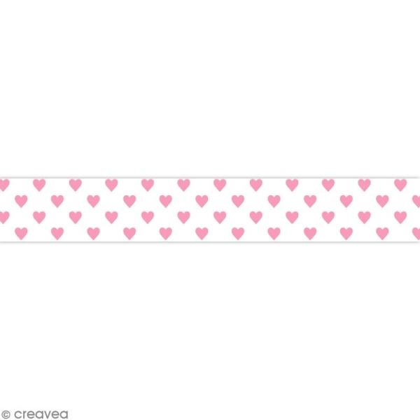 Masking tape Toga - Color factory naissance - Coeurs roses - 10 mètres - Photo n°1