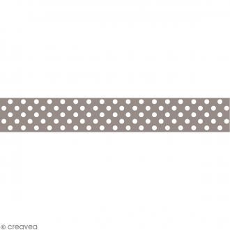Masking tape Toga - Color factory naissance - Pois taupe - 10 mètres
