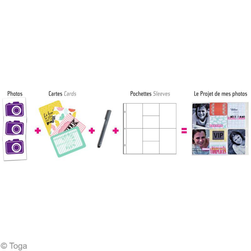 Cartes pour project life Toga - Thème Ensemble / En famille - 60 cartes assorties - Photo n°3