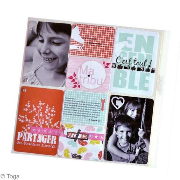 Cartes pour project life Toga - Thème Ensemble / En famille - 60 cartes assorties - Photo n°4
