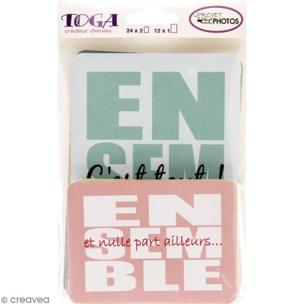 Cartes pour project life Toga - Thème Ensemble / En famille - 60 cartes assorties - Photo n°1
