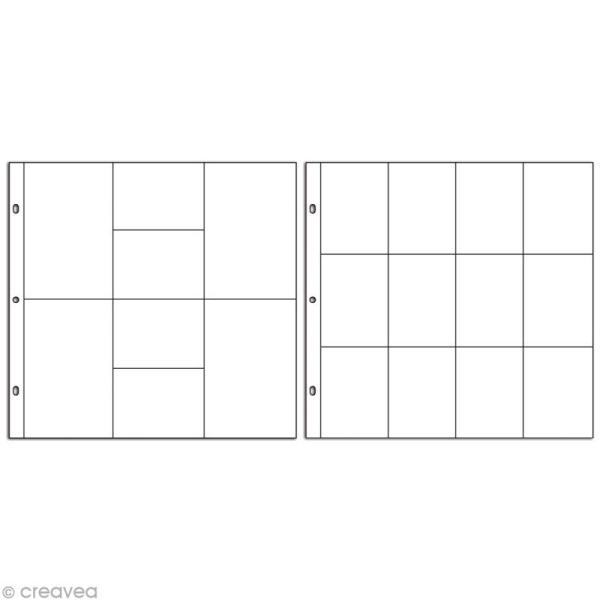 Pochette transparente pour project life Toga - Assortiment n°1 - 10 pcs - Photo n°2