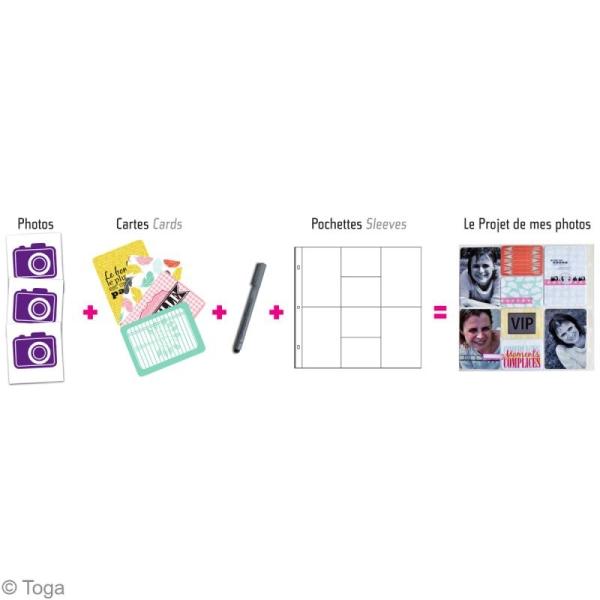 Pochette transparente pour project life Toga - Assortiment n°1 - 10 pcs - Photo n°3