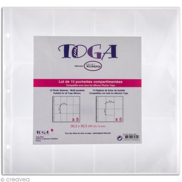 Pochette transparente pour project life Toga - Assortiment n°1 - 10 pcs - Photo n°1