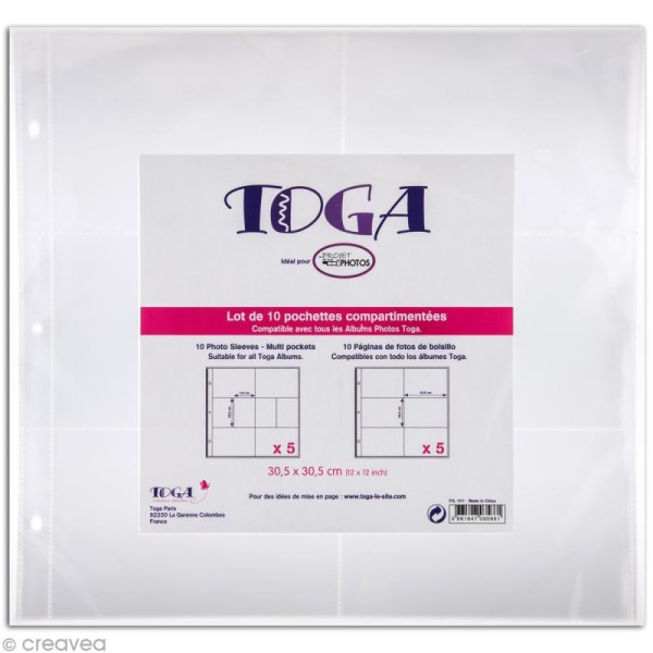 Pochette transparente pour project life Toga - Assortiment n°2 - 10 pcs - Photo n°1