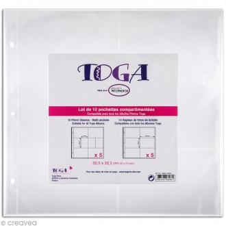 Pochette transparente pour project life Toga - Assortiment n°2 - 10 pcs