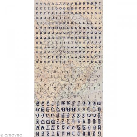 Stickers alphabet Globe trotter - 1 planche de 375 autocollants - Photo n°2