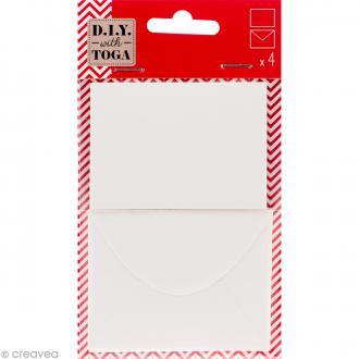 Mini enveloppe et carte scrapbooking - Ivoire - 8 pcs