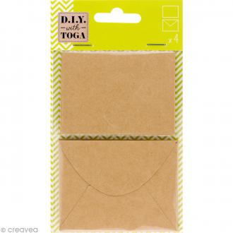 Mini enveloppe et carte scrapbooking - Kraft - 8 pcs