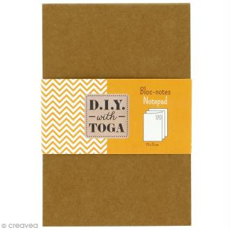 Bloc notes kraft à décorer 10 x 15 cm - 120 pages blanches
