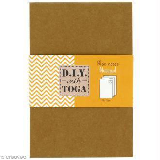 Bloc notes kraft à décorer 10 x 15 cm - 120 pages blanches