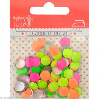 Clou thermocollant rond - Assortiment fluo - 8 mm x 200 pcs