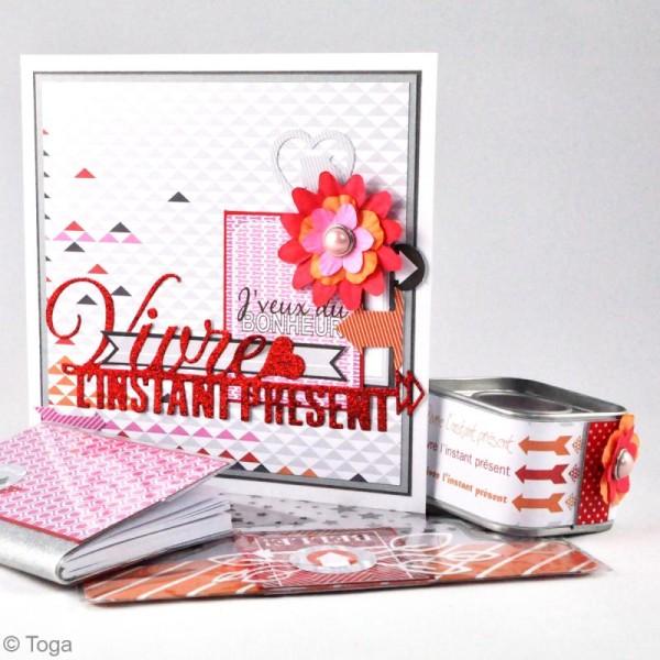 Assortiment de fleurs en papier - Rose Melon Vert menthe et Anis - 75 pcs - Photo n°5