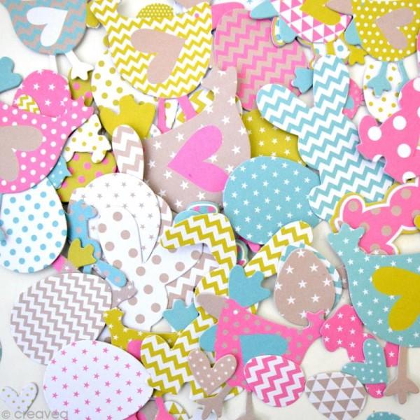 Die cut - Color factory Pâques - 66 formes en papier - Photo n°3