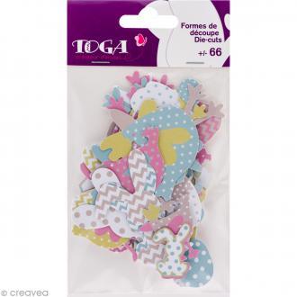 Die cut - Color factory Pâques - 66 formes en papier