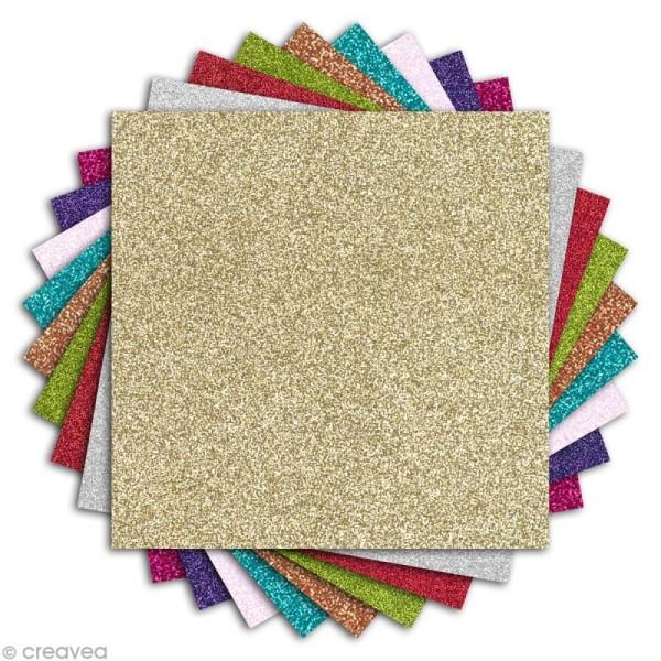 Papier pailleté scrapbooking - Oh Glitter ! Toga - 30 x 30 cm - 18 feuilles - Photo n°2