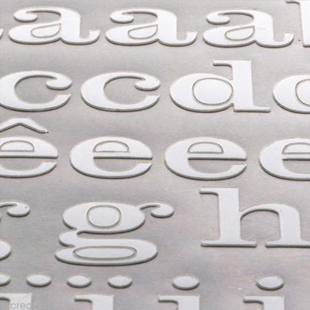 Alphabet autocollant Toga - Blanc - 2 planches 26 x 14,5 cm - Photo n°3