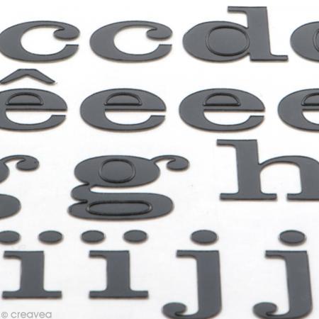 Alphabet autocollant Toga - Noir - 2 planches 26 x 14,5 cm - Photo n°3