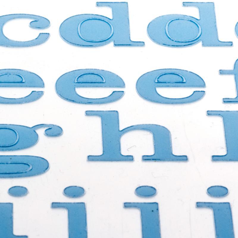 Alphabet autocollant Toga - Bleu ciel - 2 planches 26 x 14,5 cm - Photo n°3