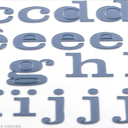 Alphabet autocollant Toga - Bleu jeans - 2 planches 26 x 14,5 cm - Photo n°3