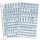Alphabet autocollant Toga - Bleu jeans - 2 planches 26 x 14,5 cm - Photo n°2