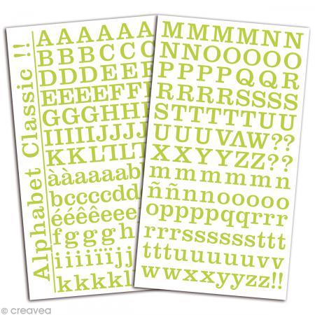 Alphabet autocollant Toga - Vert - 2 planches 26 x 14,5 cm - Photo n°2