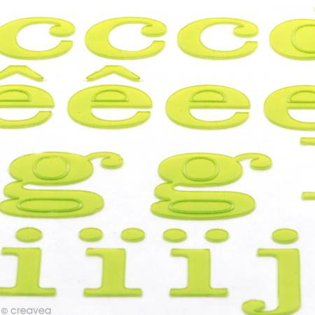 Alphabet autocollant Toga - Vert - 2 planches 26 x 14,5 cm - Photo n°3