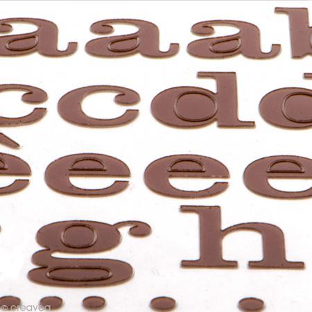Alphabet autocollant Toga - Marron - 2 planches 26 x 14,5 cm - Photo n°3