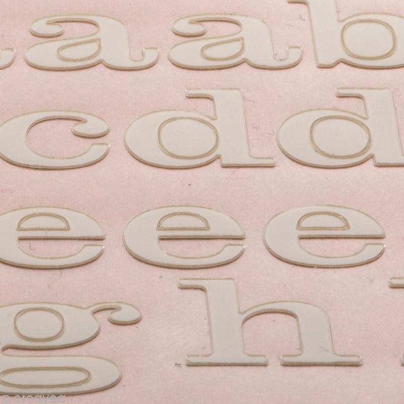 Alphabet autocollant Toga - Blanc ivoire - 2 planches 26 x 14,5 cm - Photo n°3