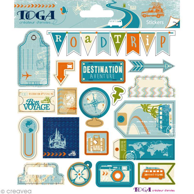 stickers globe trotter 2 planches de 15 x 15 cm 38 autocollants stickers voyage creavea. Black Bedroom Furniture Sets. Home Design Ideas