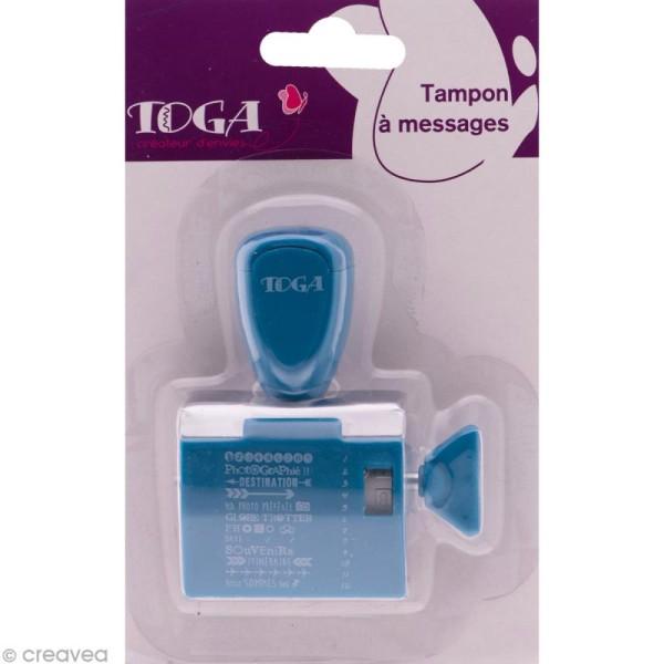 Tampon à molette Toga - Globe trotter Voyages - 12 messages et motifs - Photo n°1