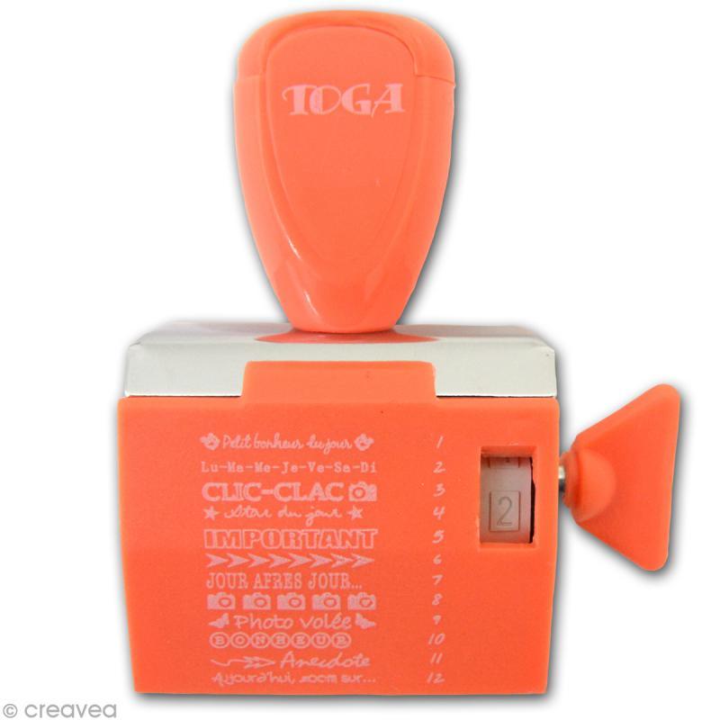 Tampon à molette Toga - Project life Projet photo - 12 messages et motifs - Photo n°2